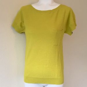LOFT Sweaters - ANN TAYLOR LOFT Chartreuse Yellow Summer Sweater